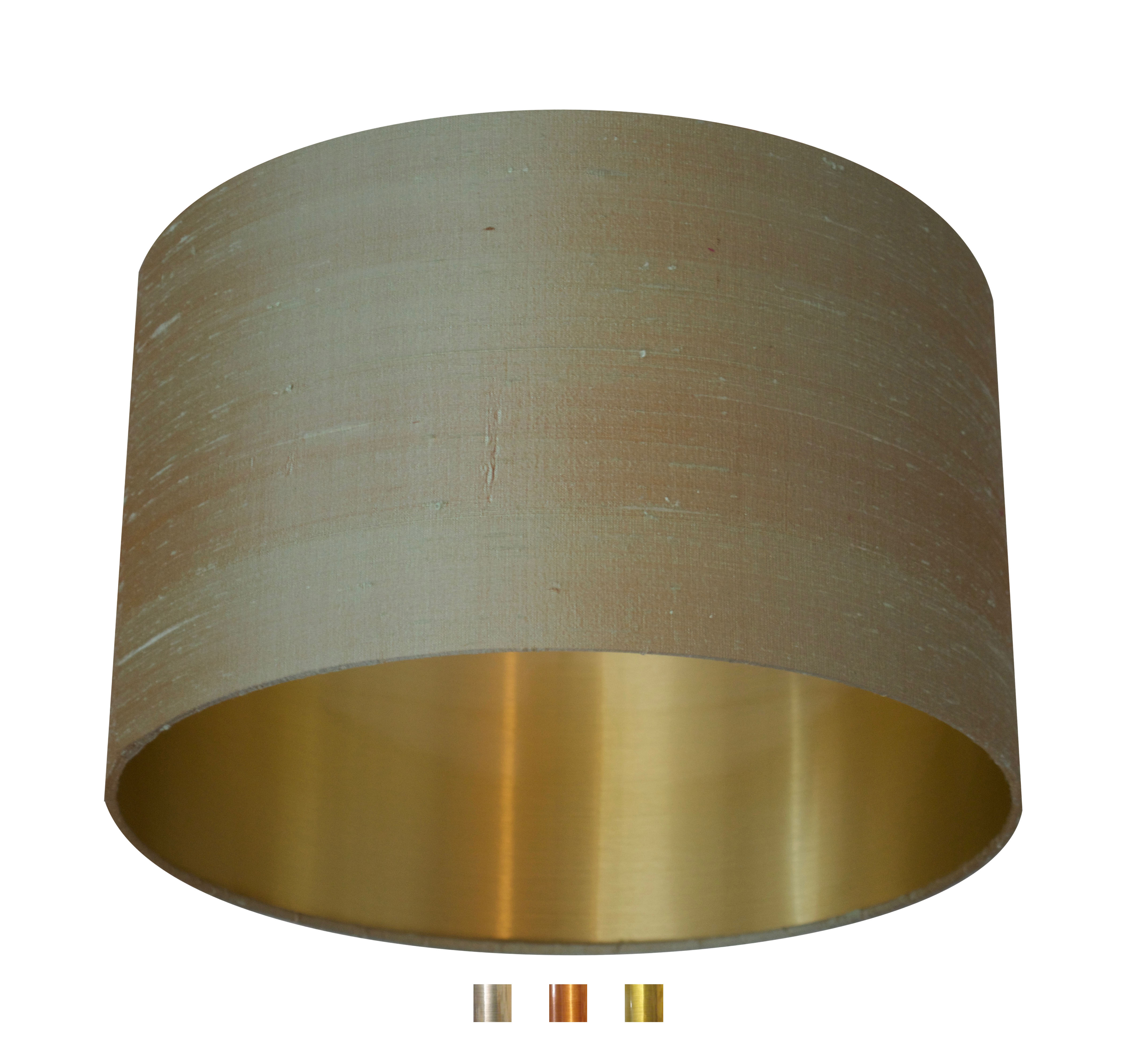 Celadon Dupion Raw Silk Lampshade With Gold Brass Copper Or Silver Lining Amanolampshades Co Uk