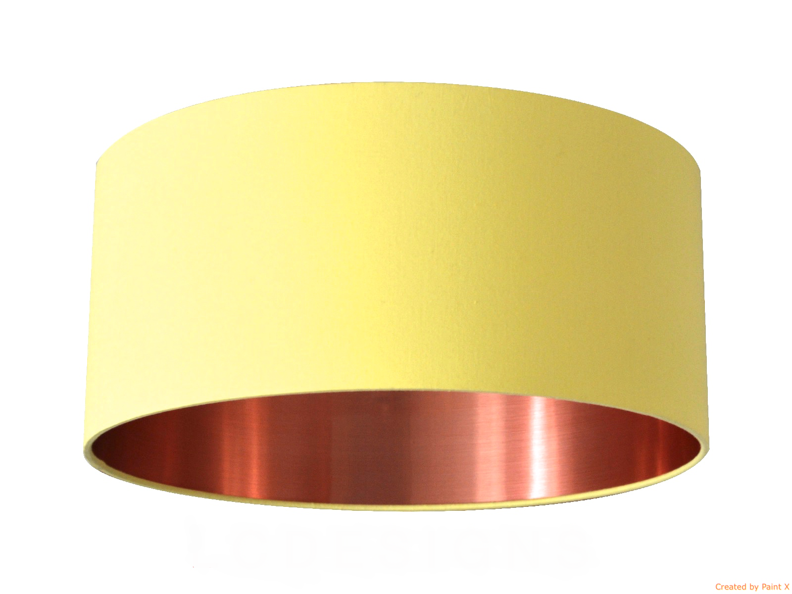 Lemon cotton with a brushed copper effect lining lampshade lemon cotton with a brushed copper effect lining lampshade mozeypictures Image collections