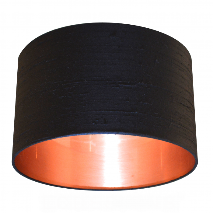 black silk with copper lining